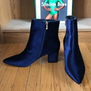 Steven By Steve Madden Shoes - STEVEN by Steve Madden velvet booties